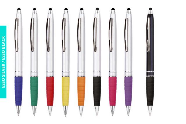 Długopisy Esso Silver i Esso Black