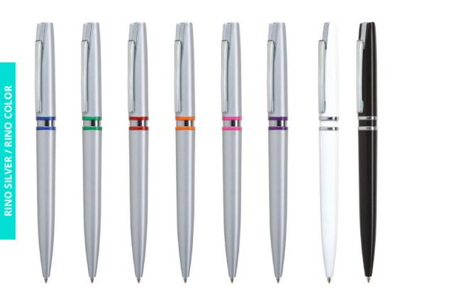 Długopis Rino Silver i Rino Color