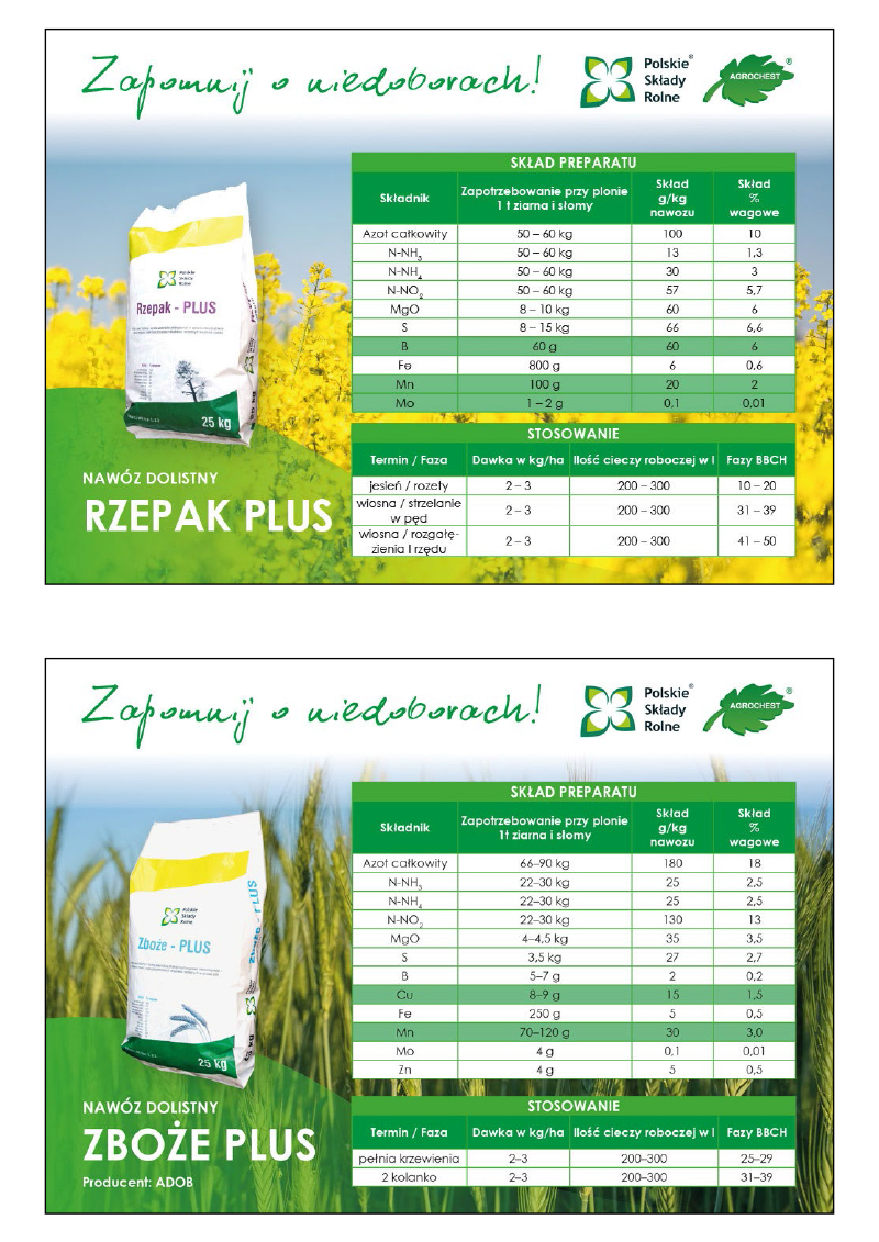 Agrochest - format 1/2 a4 - reklamy poziome