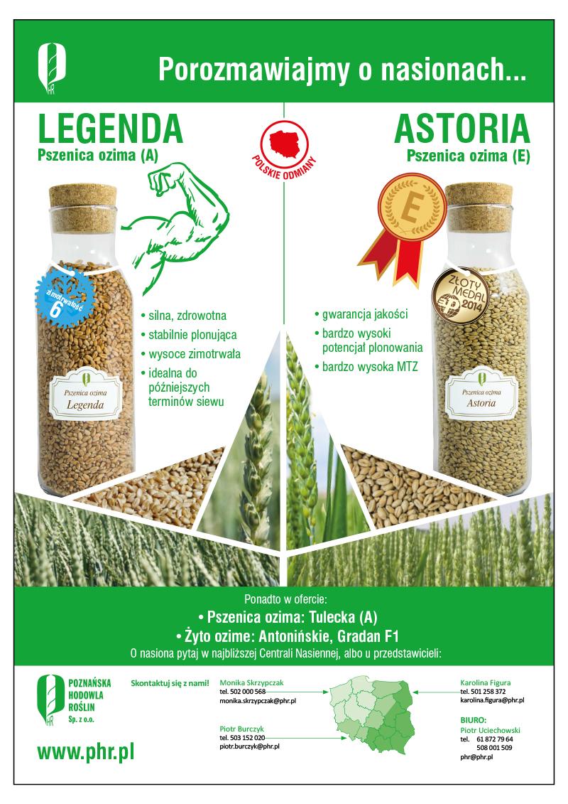 Reklama A4 dla PHR do miesięcznik Agro Profil